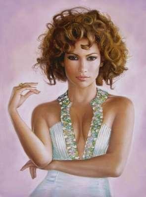 Дженнифер Лопес. Рисунок пастелью