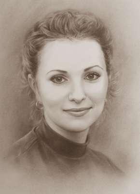 Портрет сухой кистью