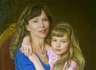 Мама с дочкой (фрагмент)