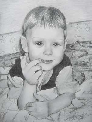 Даня. Рисунок карандашом.