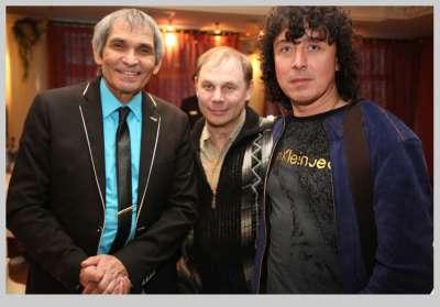 Бари Алибасов, Яков Пульнов и Андрей Алексин в Посольстве Узбекистана в Москве