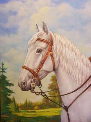 Белый конь (фрагмент)