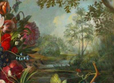 Натюрморт на фоне пейзажа (фрагмент 2)