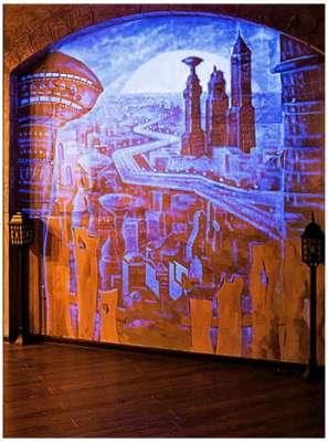Роспись стен невидимыми красками